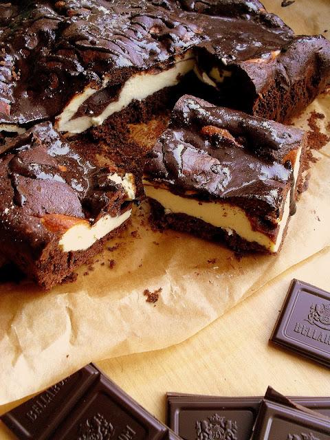 Sernik w murzynku / Polish Cheesecake Brownie