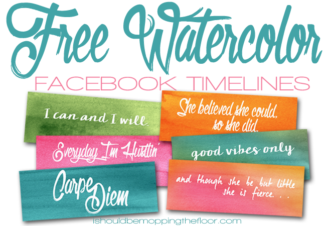 Free Watercolor Facebook Timelines | Six Designs | Instant Downloads
