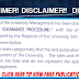 RSUST 2016/17 Admission Clearance Procedures Disclaimer Notice