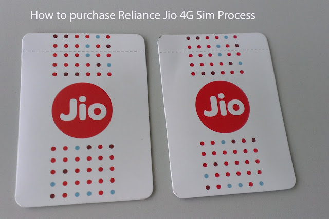 How to purchase Reliance Jio 4G Sim, Which step to procedure?