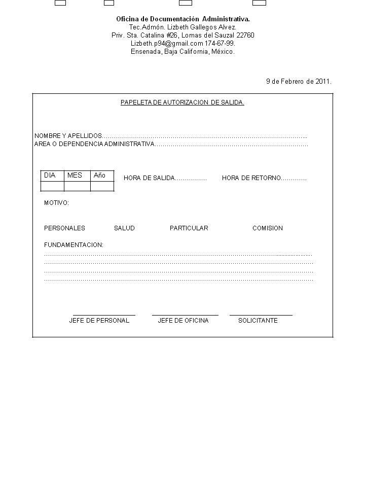 administracion 2 u0026quot a u0026quot  matutino  papeleta de autorizacion de