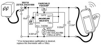 Lithium-ion (Li-ion) battery charger circuit schematic