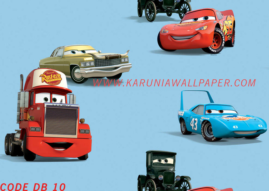 wallpaper dinding cars lightning mcqueen disney