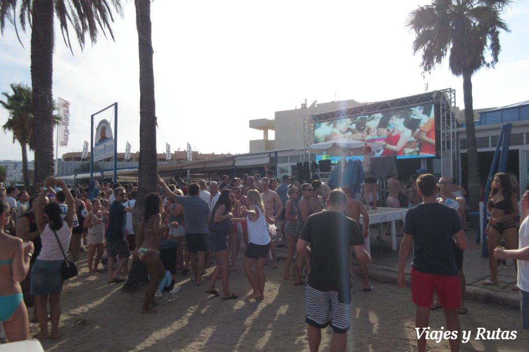 Bora Bora en playa dèm Bossa, Ibiza