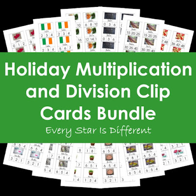 Holidays Multiplication and Division Bundle
