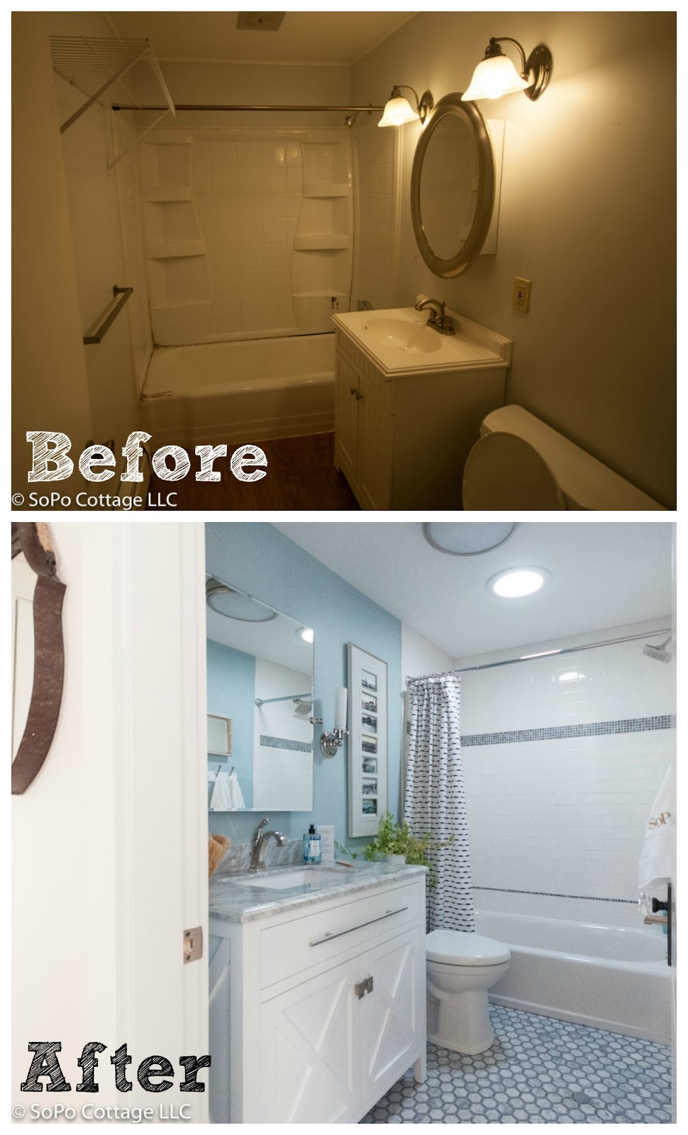 Sopo Cottage 1960 Ranch Bathroom Renovation Before And After