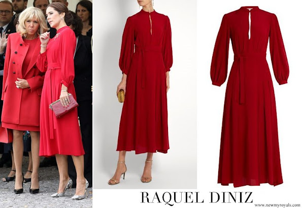 Crown Princess Mary wore Raquel Diniz Armonia silk georgette dress