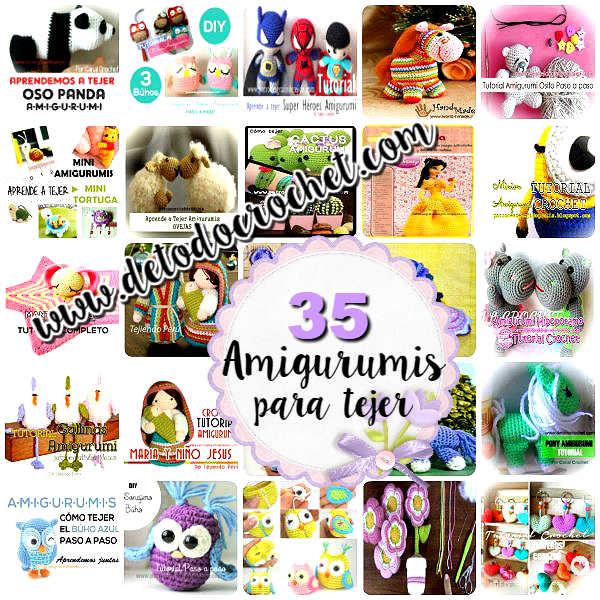 patrones y tutoriales de muñecos amigurumis para tejer