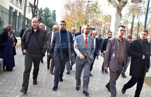 صور/إنزالٌ لوزراء وبرلمانيي ورؤساء الجهات عن البيجيدي لمحكمة فاس للتأثير على القضاء