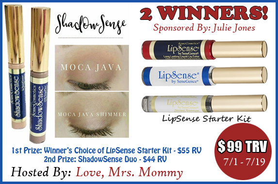 Feel Beautiful LipSense & ShadowSense Makeup Giveaway – Ends 7/19/17