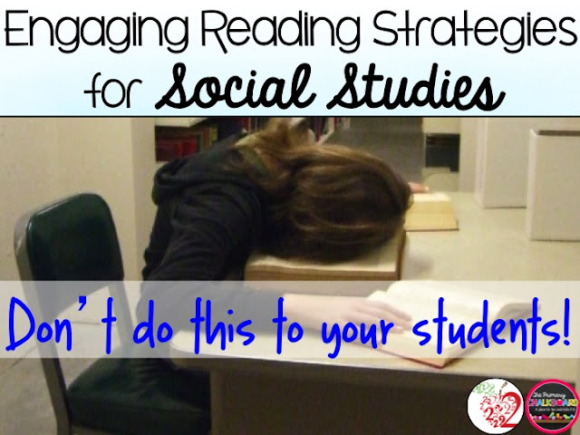 Engaging Reading Strategies for Social Studies- 2 Brainy Apples Primary Chalkboard