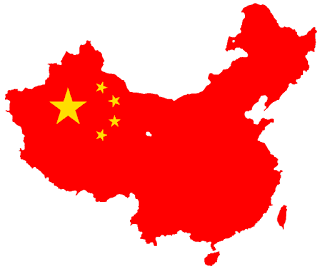 Flag map of the People%2527s Republic of China