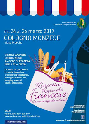Mercatino Regionale Francese 24-25-26 marzo Cologno Monzese (MI)