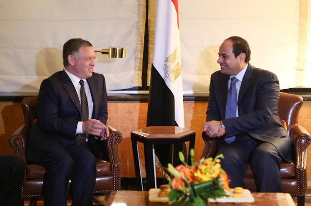 مباحثات السيسي والعاهل الأردنى لمواجهة الإرهاب وتعزيز العلاقات بين البلدين