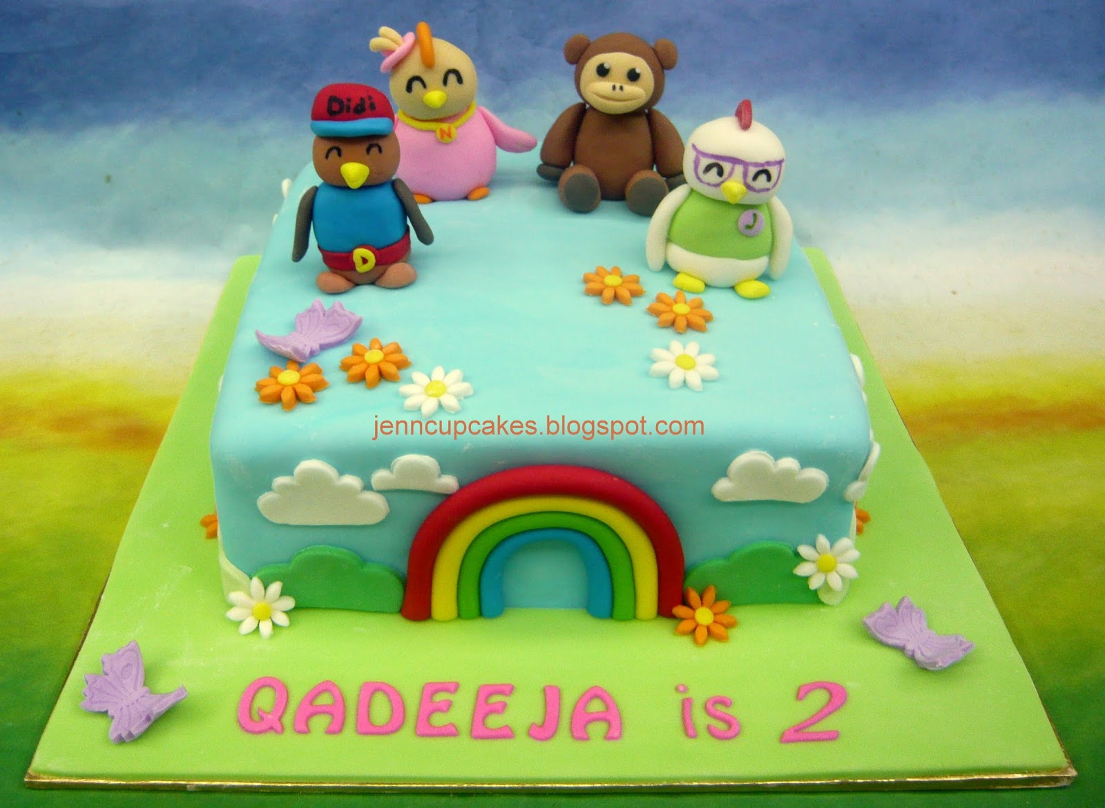 Images Of Birthday Cake For Didi : Jenn Cupcakes & Muffins: Didi & Friends Cake