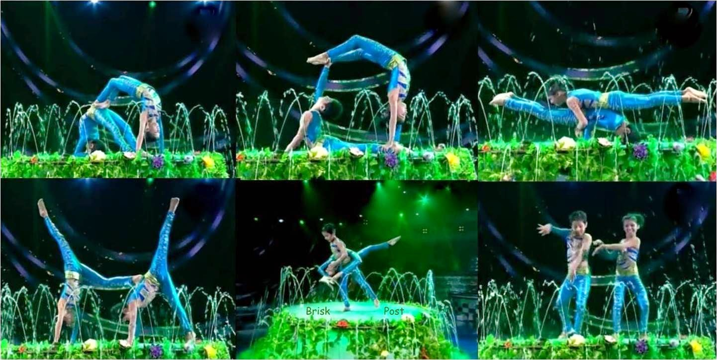Acrobats at DID Little Masters