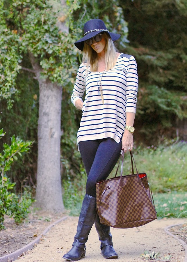 black and white long sleeve striped tunic top parlor girl fall tops