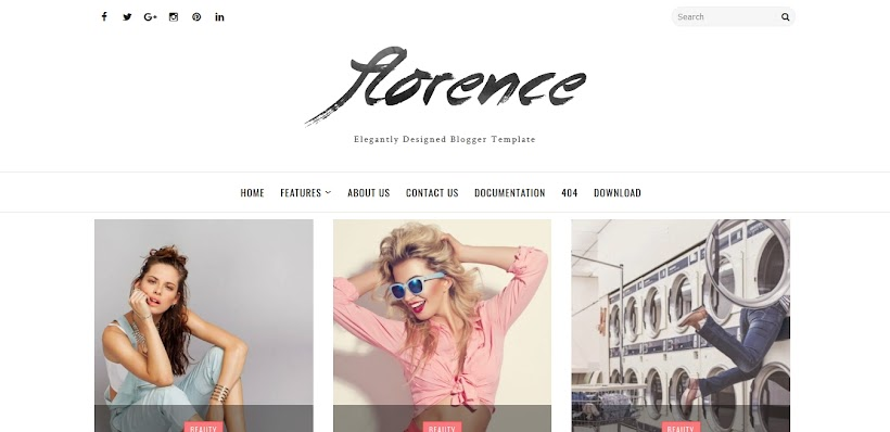 Florence Free Blogger Template