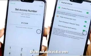 Setting nomor akses hidden apps A3S oppo
