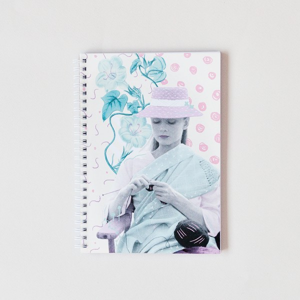laura gomez, audrey hepburn, collage, notebook