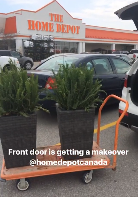 Front door summer makeover