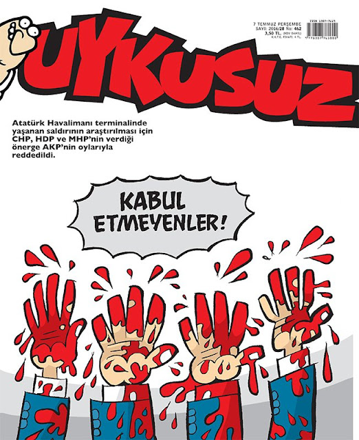 Uykusuz Dergisi - 7 Temmuz 2016 Kapak Karikatürü
