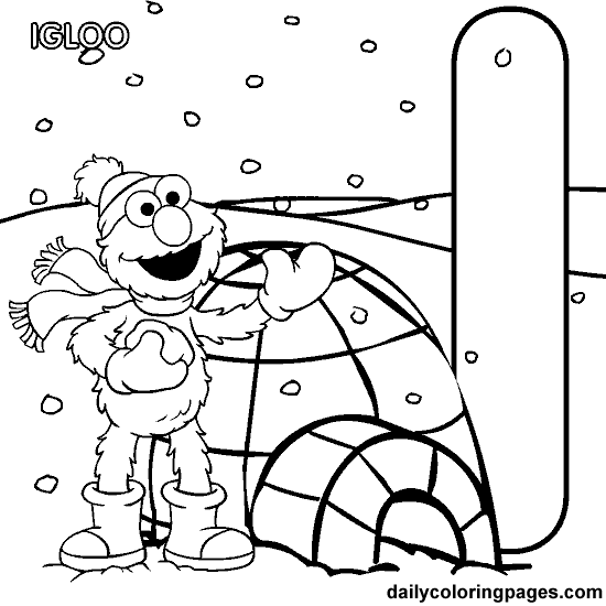 elmo coloring pages alphabet n - photo#2