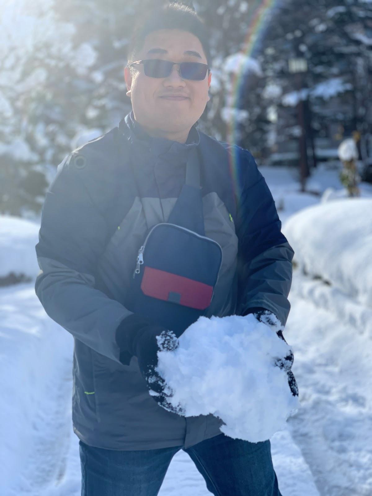青い森公園玩雪