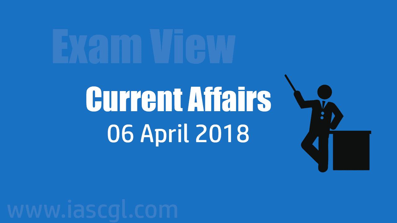Current Affair 06 April 2018
