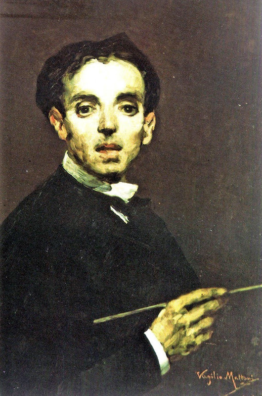 Virgilio Mattoni de la Fuente, Self Portrait, Portraits of Painters, Fine arts, Portraits of painters blog, Paintings of Virgilio Mattoni, Painter  Virgilio Mattoni
