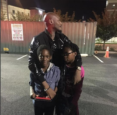 2 baba: 2face Idibia pictured with his  kids from Pero Adeniyi