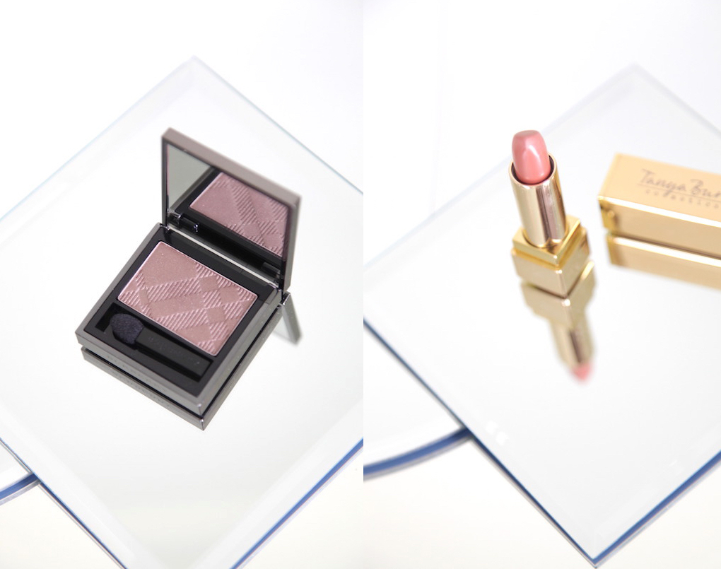 burberry midnight brown eyeshadow and tanya burr bear hug lipstick review