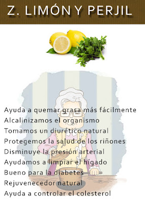 Agua de perejil y limon para bajar de peso