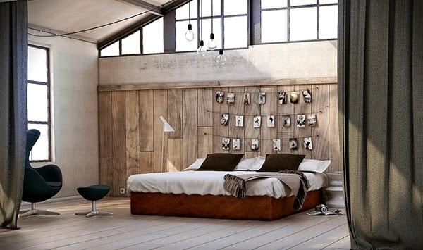 Conception Chambre Avec Panneaux En Bois