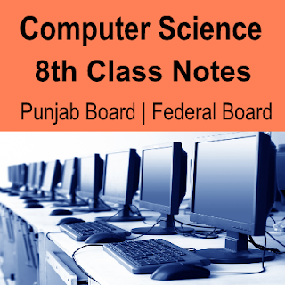 8th Class Solved Easy download computer Notes with Objective and subjective chapter wise