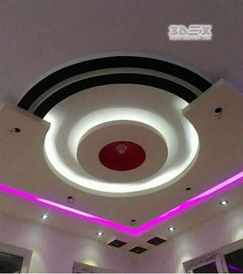 POP ceiling design half false ceiling for living room hall 2019