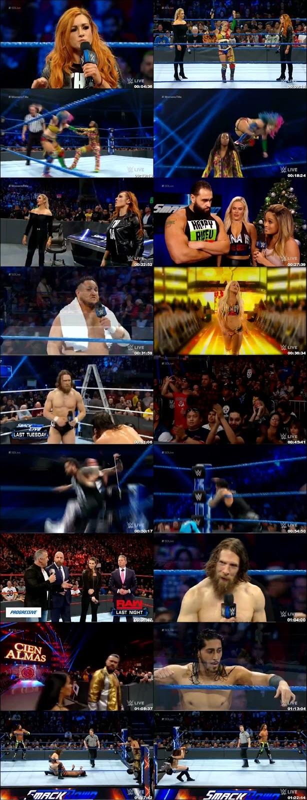 Screen Shot Of WWE SmackDown Live 18th December 2018 HDTV 480P 300MB