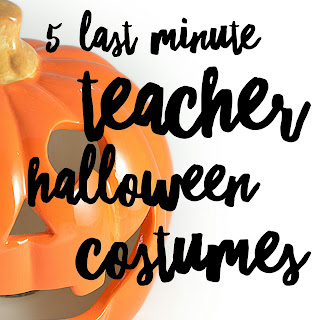 Not enough time to costume shop?  5 easy ideas for elementary teacher Halloween costumes you can find in your closet!