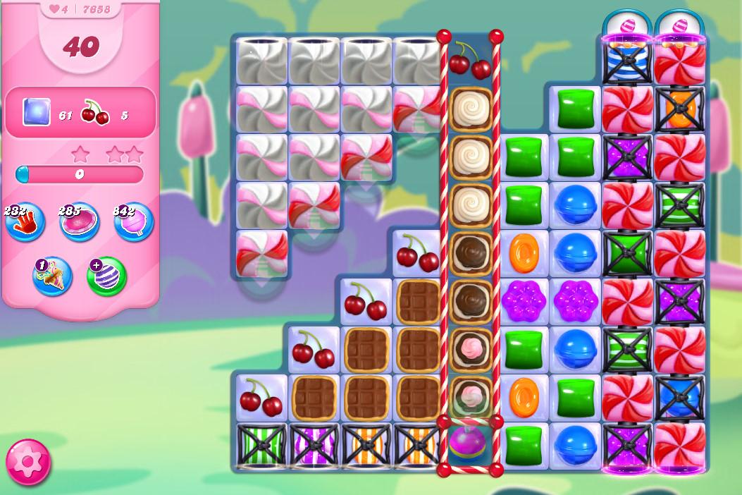 Candy Crush Saga level 7658