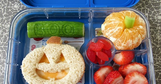 4 Fun Halloween School Lunch Ideas: Ghost, Jack-O-Lantern, Bats and Witch