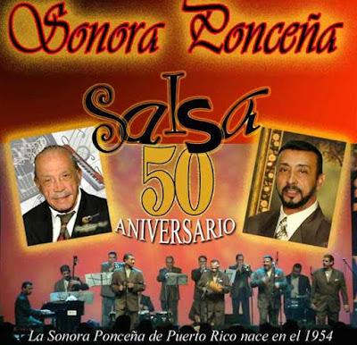 Foto de la Sonora Ponceña en portada de disco