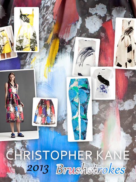 Christopher Kane Spring 2013 Brushstrokes