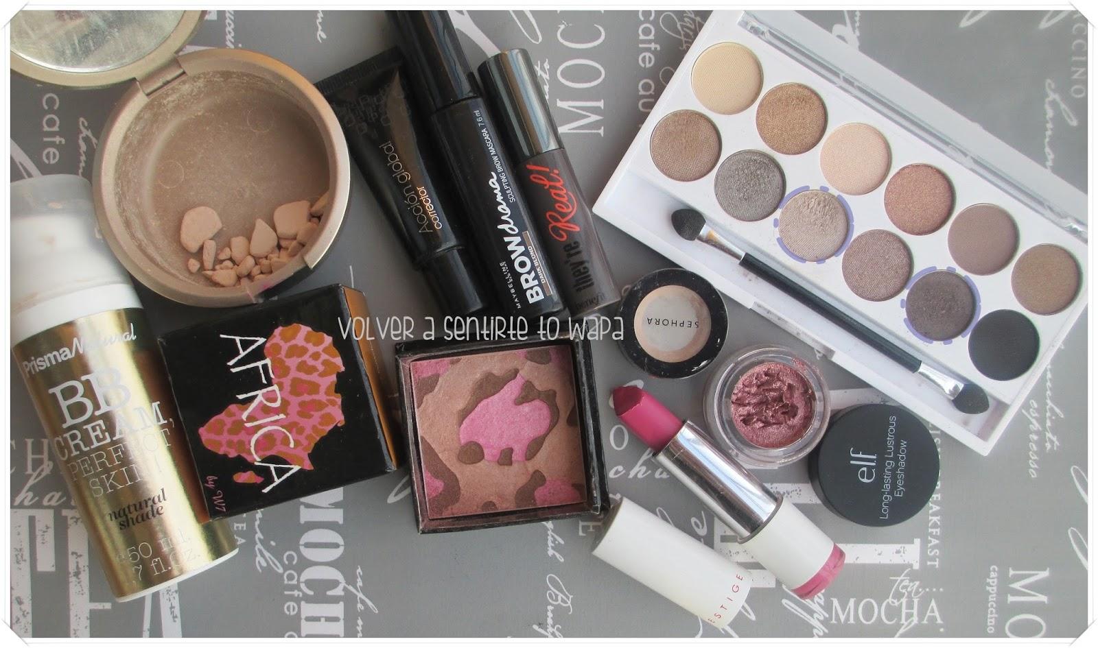 Maquillaje en rosa - Productos Utilizados - Volver a Sentirte to Wapa