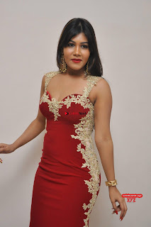 Rachana Smith in a Red Deep Neck Leg Split Gown ~ Exclusive Galleries