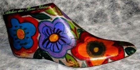 forma para sapato reutilizada
