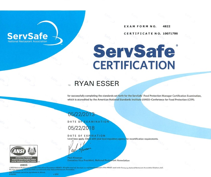 servsafe certificate template dang good dogs llc sanitation rating insurance