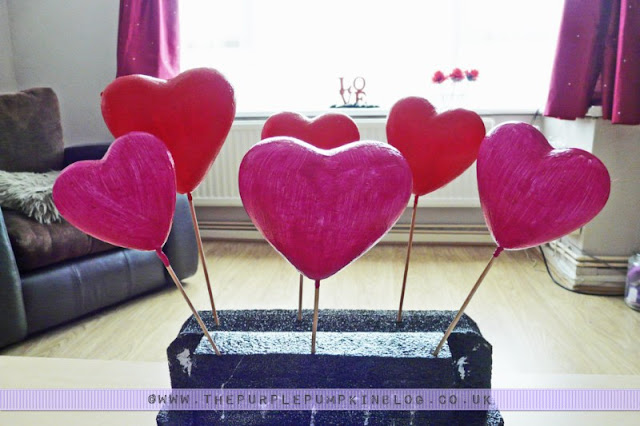 Love Heart Garland | The Purple Pumpkin Blog