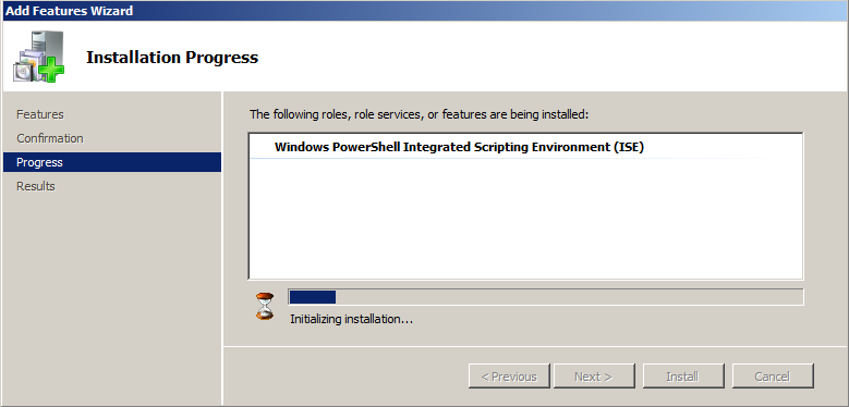 enable powershell ise windows 2008 r2