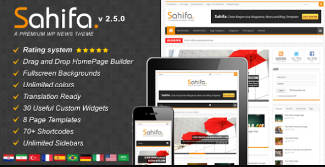 Sahifa - Responsive WordPress News Magazine