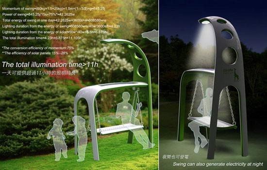 Giraffe Street Lamp by Chen Wei & Lu Yanxin